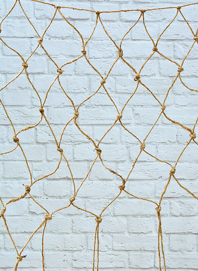 How To Make A Decorative Fishnet For Your Beachy Gallery Wall