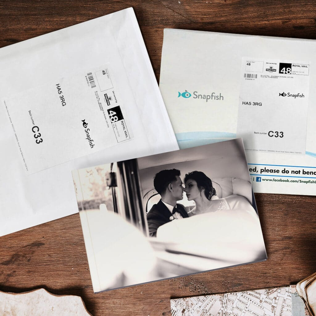 Your photo book is delivered to your door