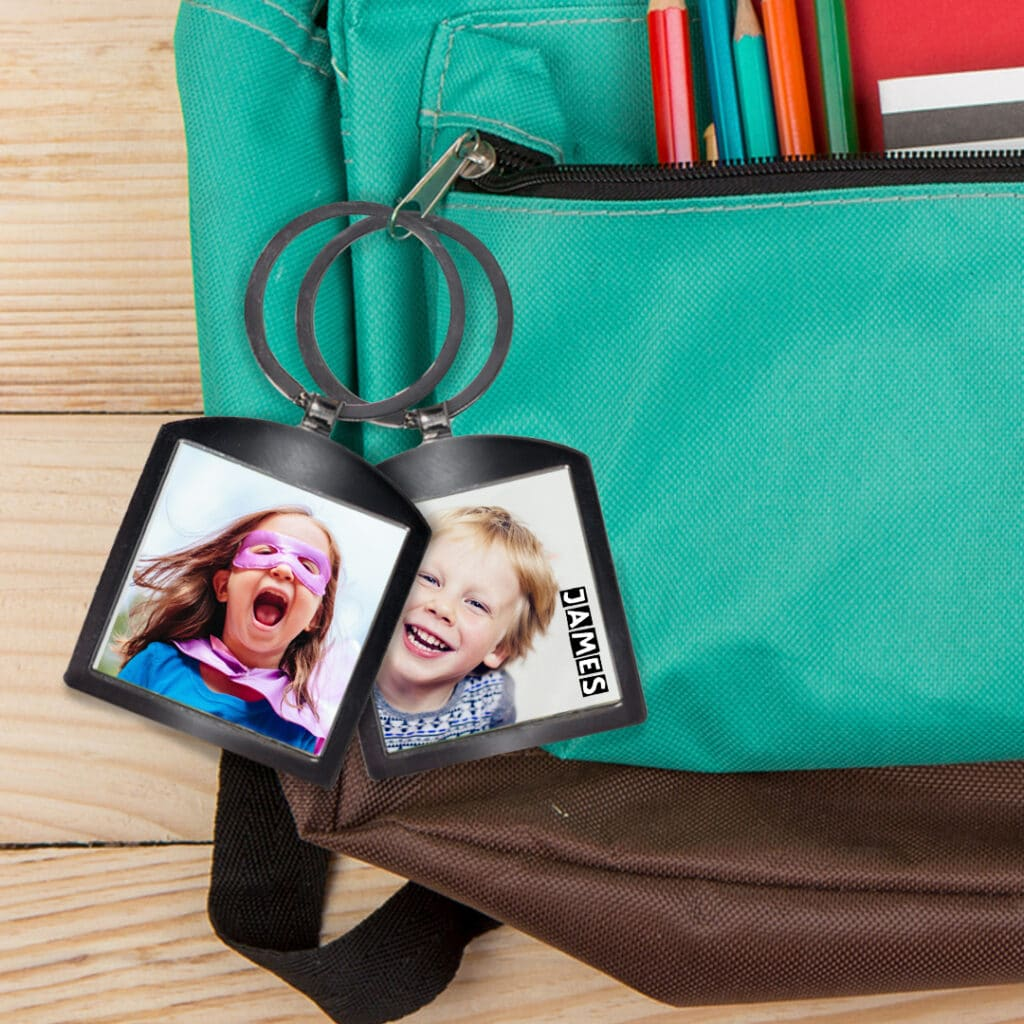 Personallize their school bags with a custom key chain - bag tag