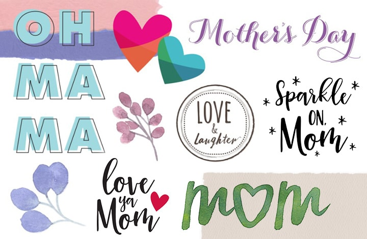 Use Mom embellishments to make your personalized gift creations pop