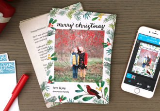 how to add a message to your holiday cards on the snapfish app - Snapfish Christmas Cards