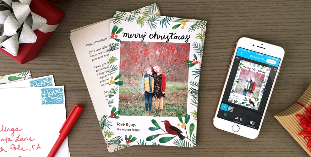 how to add a message to your holiday cards on the snapfish app - Holiday Cards 2017