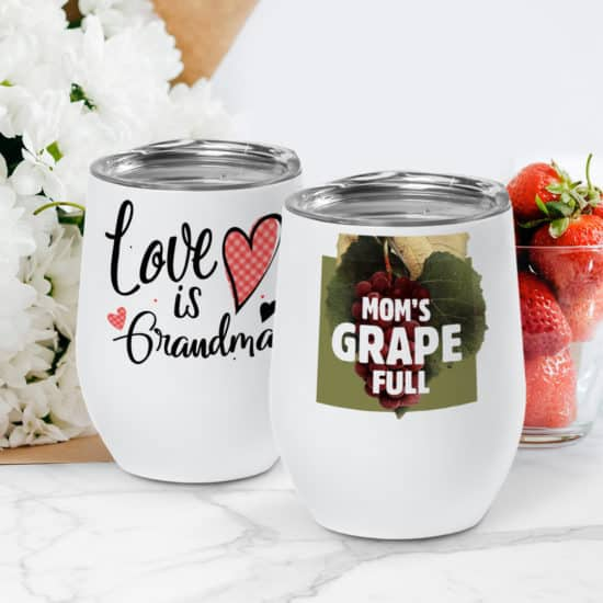 Customized tumblers for Mom