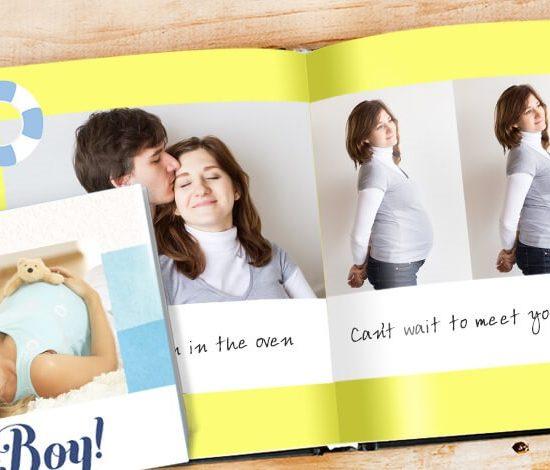 create a bump to baby photo book