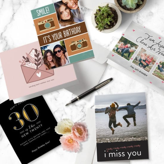 Personalise cards with custom sentiment and photos