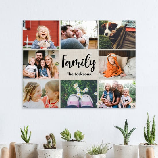 Create a collage photo print of friends & family