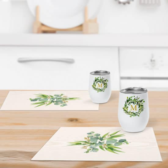 Customize your table with Snapfish personalized table and drinkware