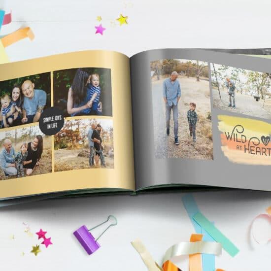 Celebrate birthdays with custom photo books of your photos
